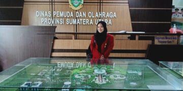 Pheby Mawaddah Situmorang Ketika Berkunjung Ke Kantor DISPORA Prov. Sumatera Utara