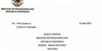 Pemberian THR 2021 Bagi Buruh